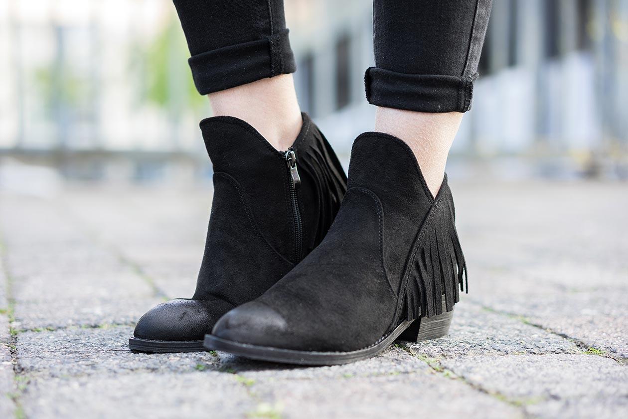 Boots Fransen Sunnyinga Fashionblog Düsseldorf