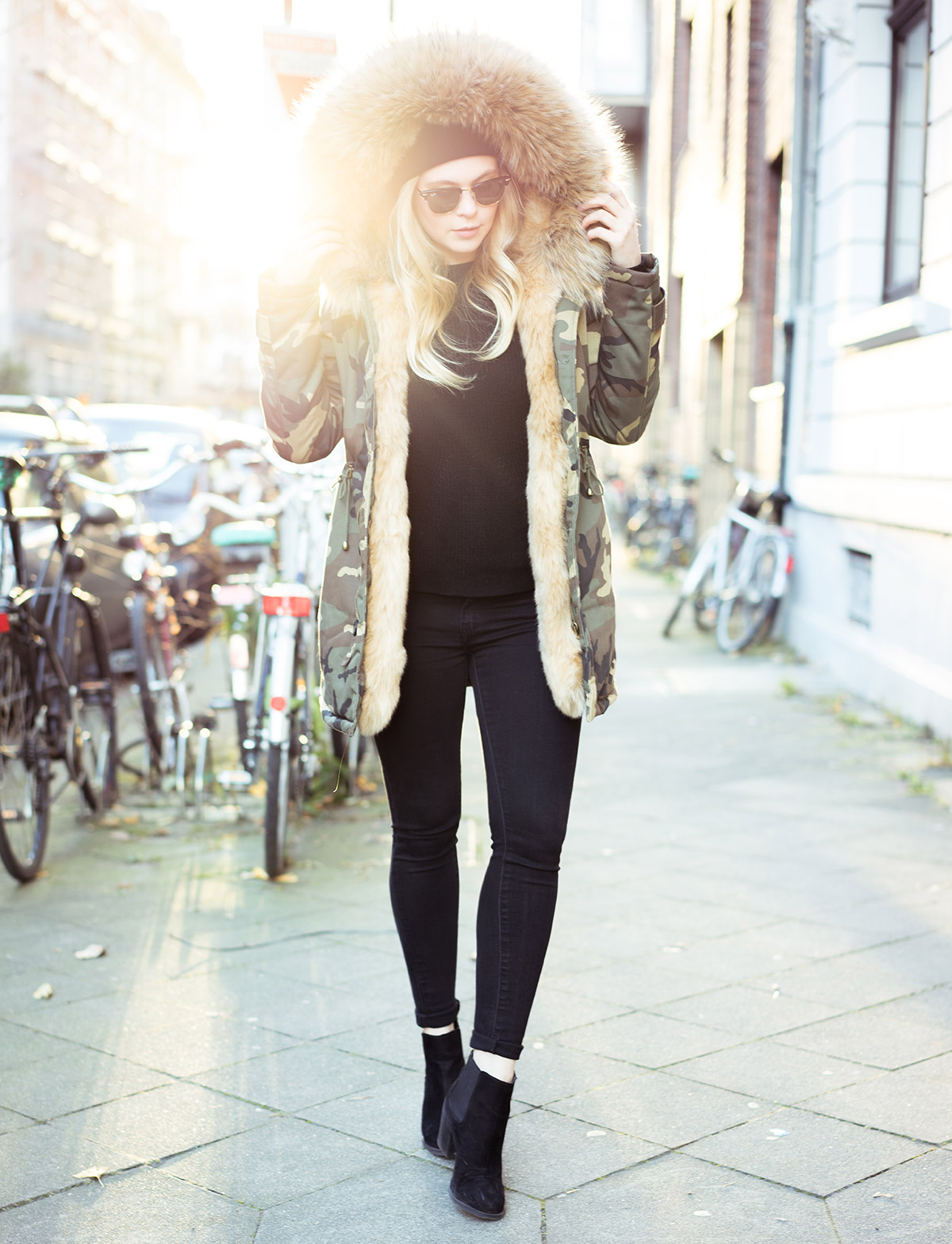 Outfit mit Parka