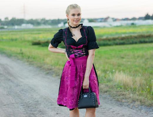 dirndl-schwarz-pink