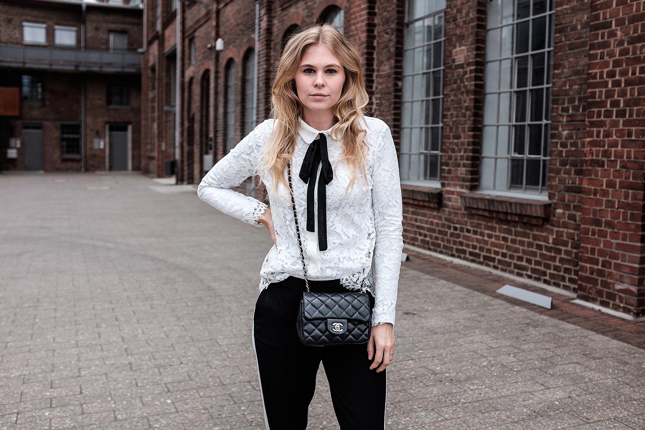 Bluse weiß Outfit Sunnyinga Fashionblog Düsseldorf