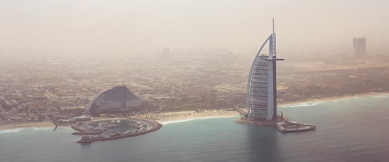 Burj Al Arab Dubai Helicopter Travelblog Sunnyinga