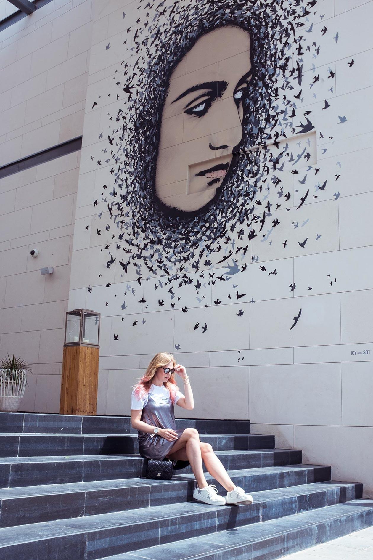 CityWalk Dubai Wallart Treppe Sunnyinga Travelblog