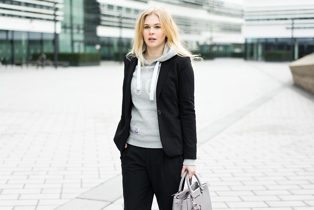 damen-blazer-schwarz-hoodie-grau-sunnyinga