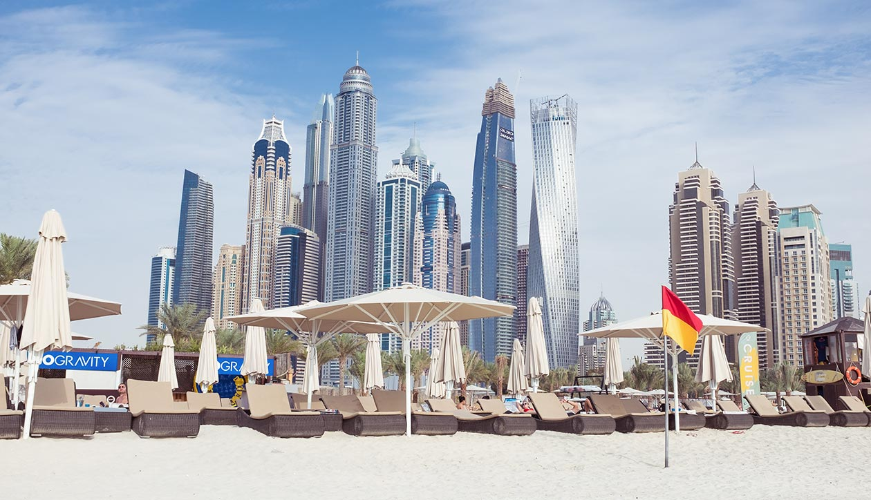 Dubai Marina Skyline Travelblog Sunnyinga