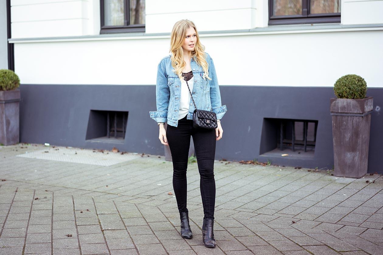 Fashionblog Oversize Jeansjacke Sunnyinga Düsseldorf