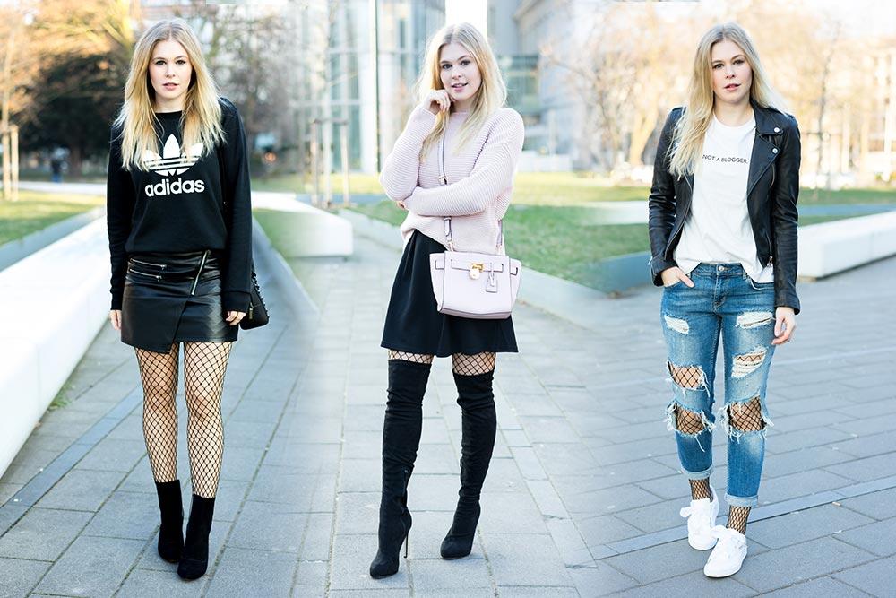 Fischnetz Strumpfhose Outfits Blogger Sunnyinga