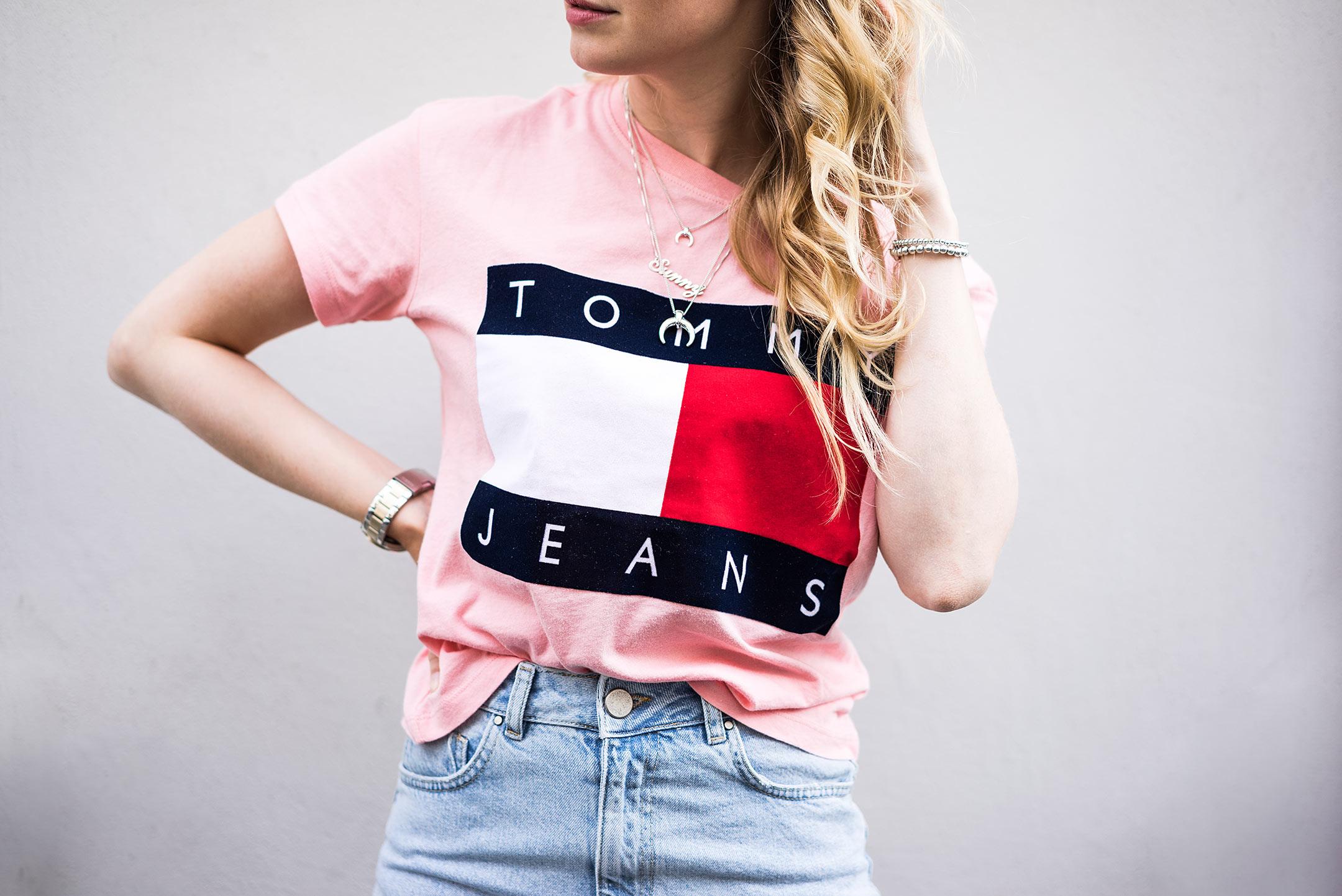 Hilfiger Denim Tommy Jeans 90s Shirt Rosa Modeblog Düsseldorf Sunnyinga