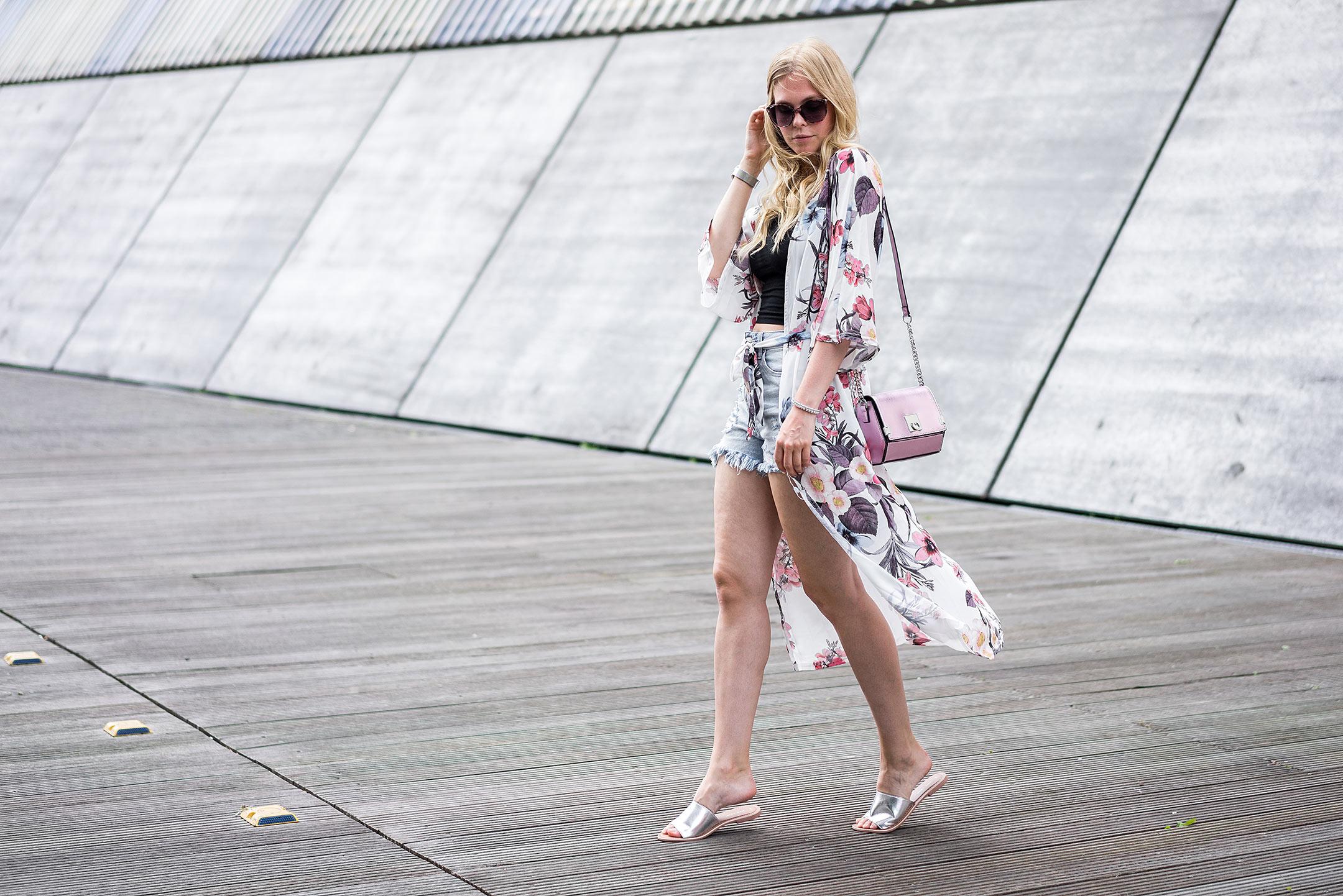 langer Kimono Blumenmuster New Look Fashionblog Düsseldorf Sunnyinga