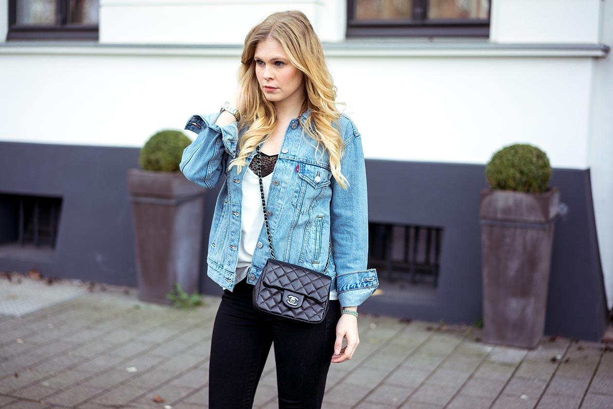 Levis Jeansjacke Outfit Fashionblog Sunnyinga Düsseldorf