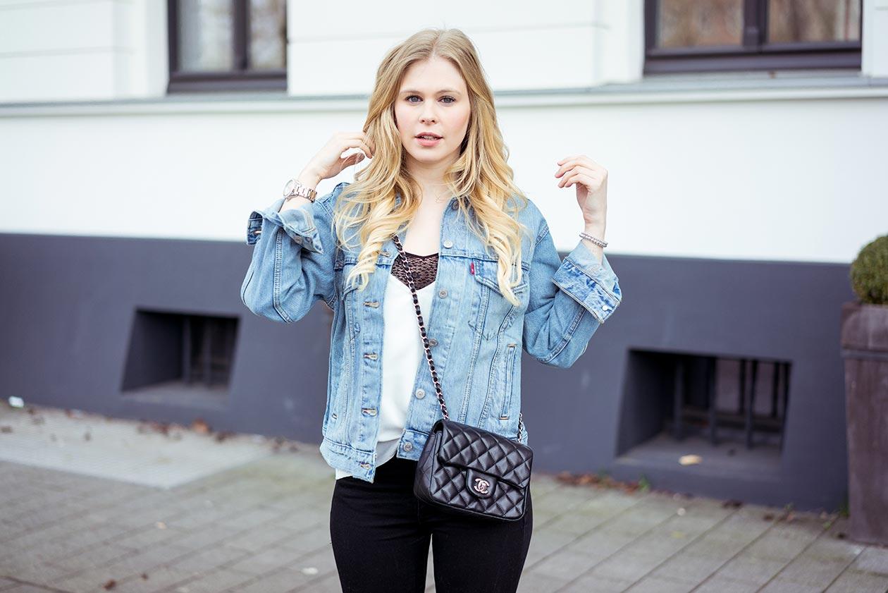 Levis Oversize Jeansjacke Sunnyinga Outfit