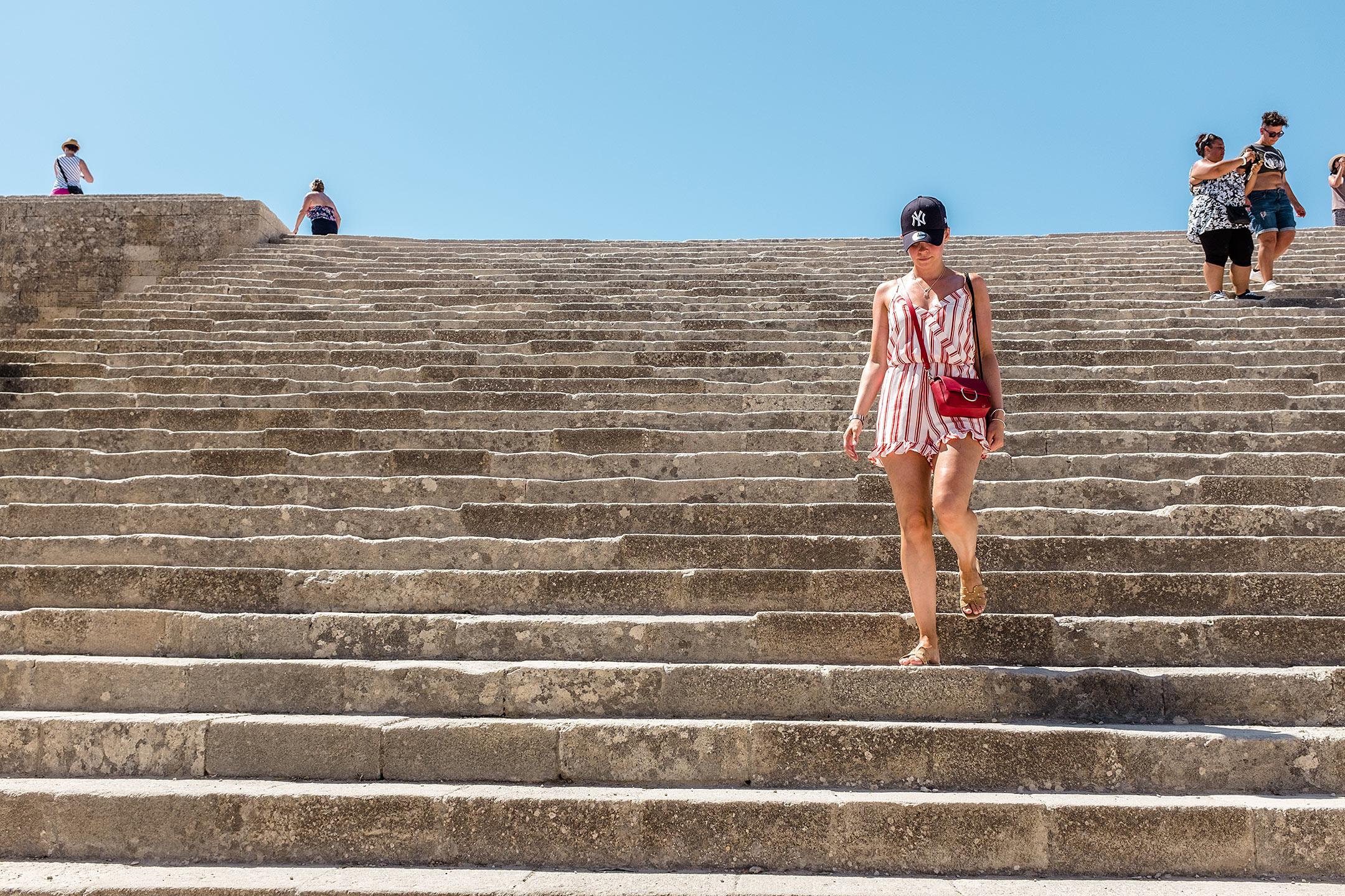 Lindos Akropolis Treppen Rhodos Griechenland Travel Blog Sunnyinga