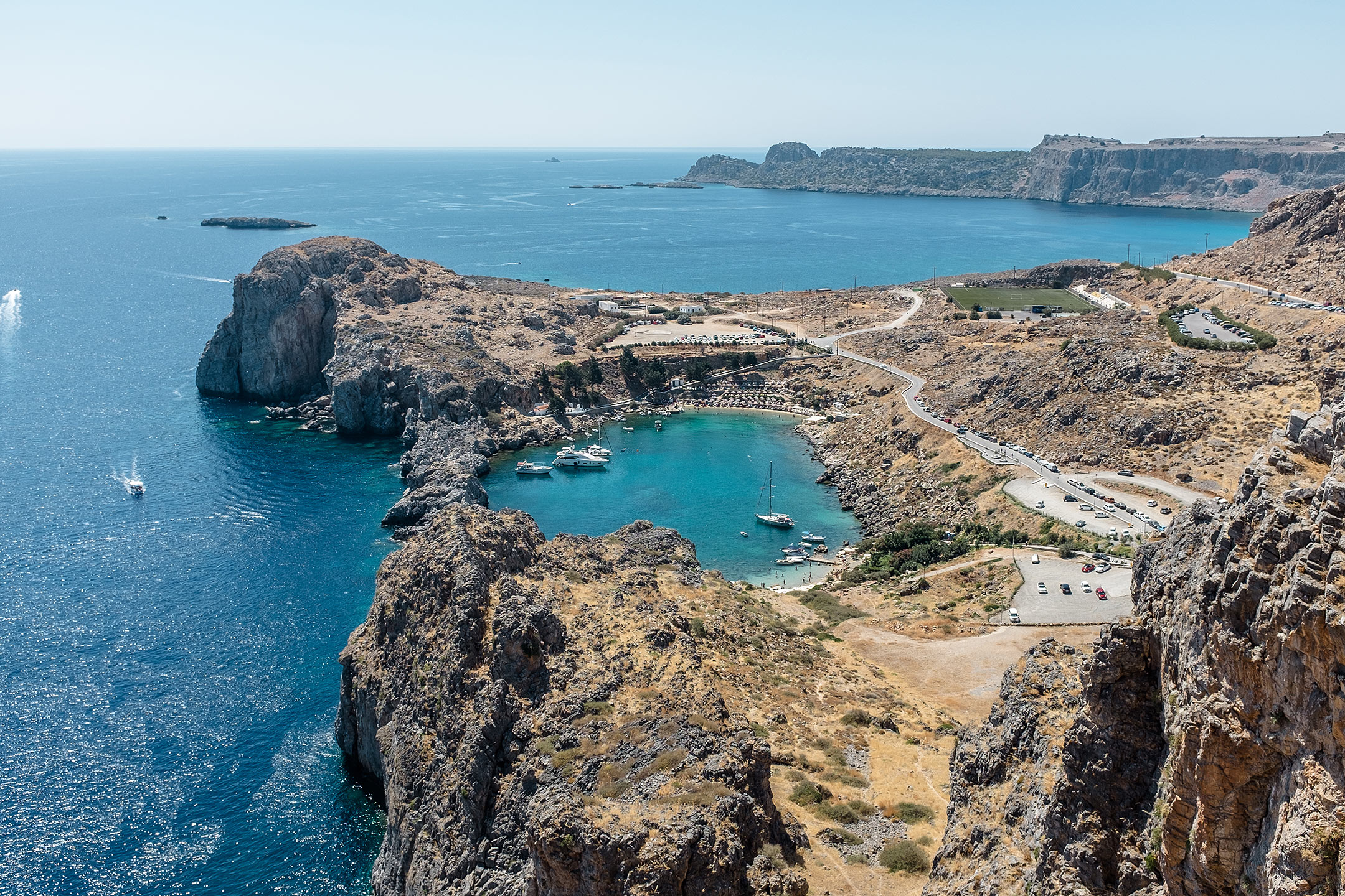Lindos Akropolis St. Pauls Bay Rhodos Griechenland Travel Blog Sunnyinga