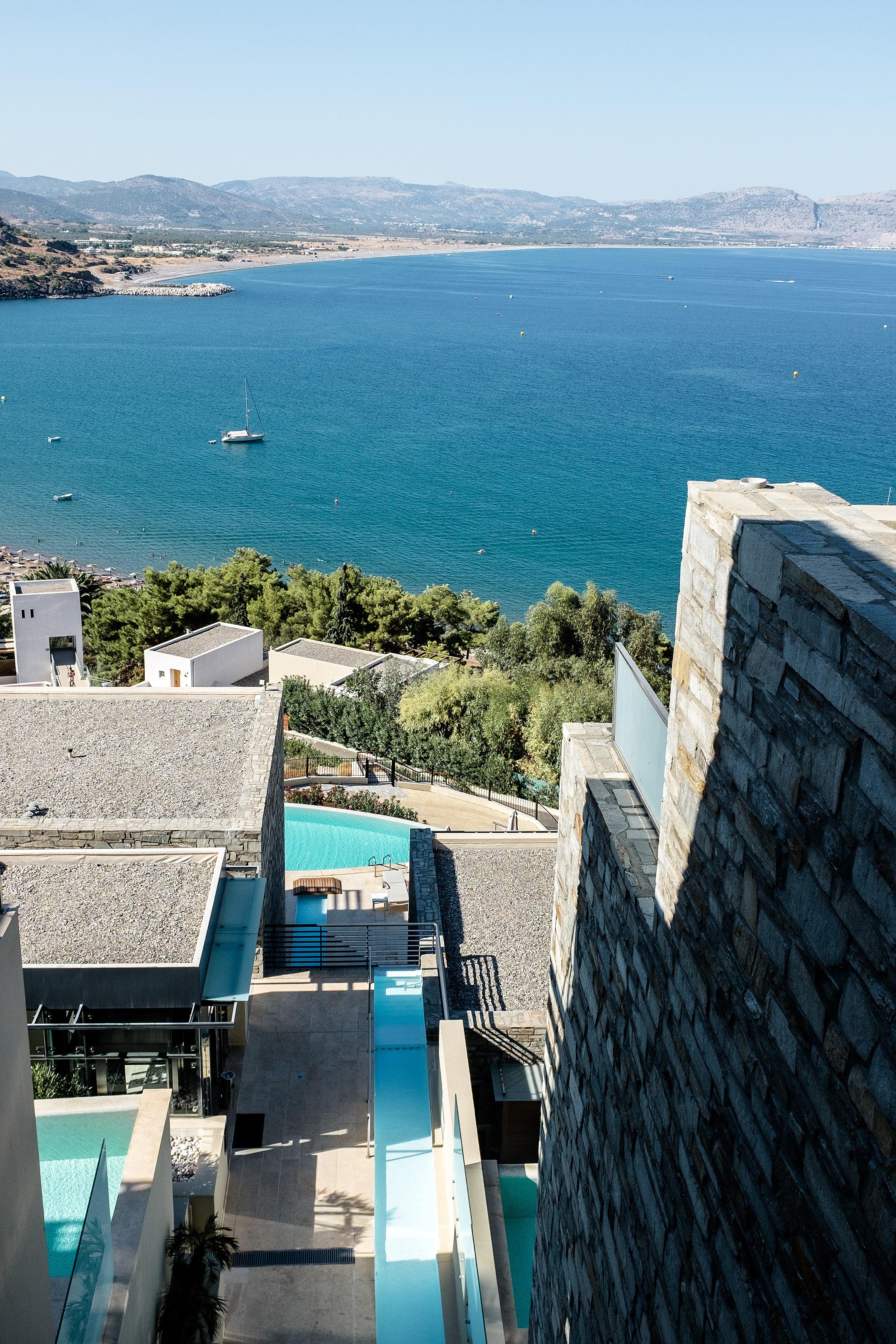 Lindos Blu Luxury Hotel Rhodos Ausblick Meer Travel Blog Sunnyinga