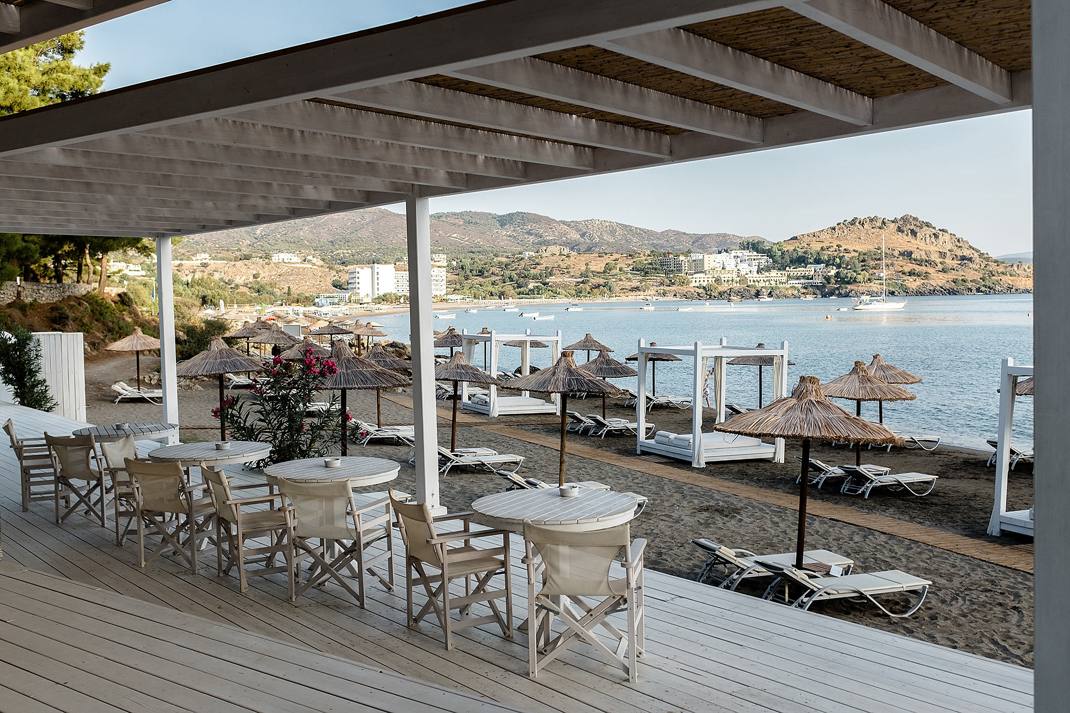 Lindos Blu Luxury Hotel Rhodos Beach Lounge Travel Blog Sunnyinga