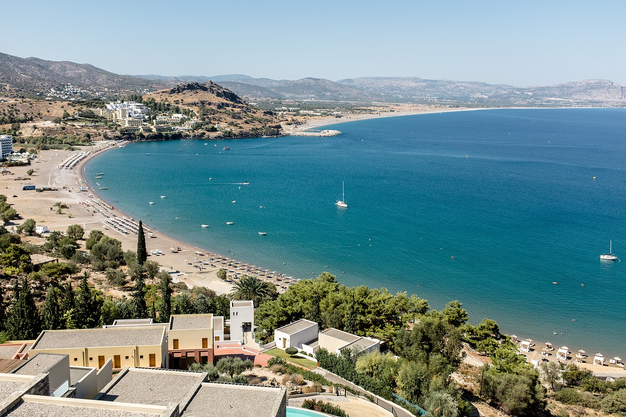 Lindos Blu Luxury Hotel Rhodos Bucht Travel Blog Sunnyinga