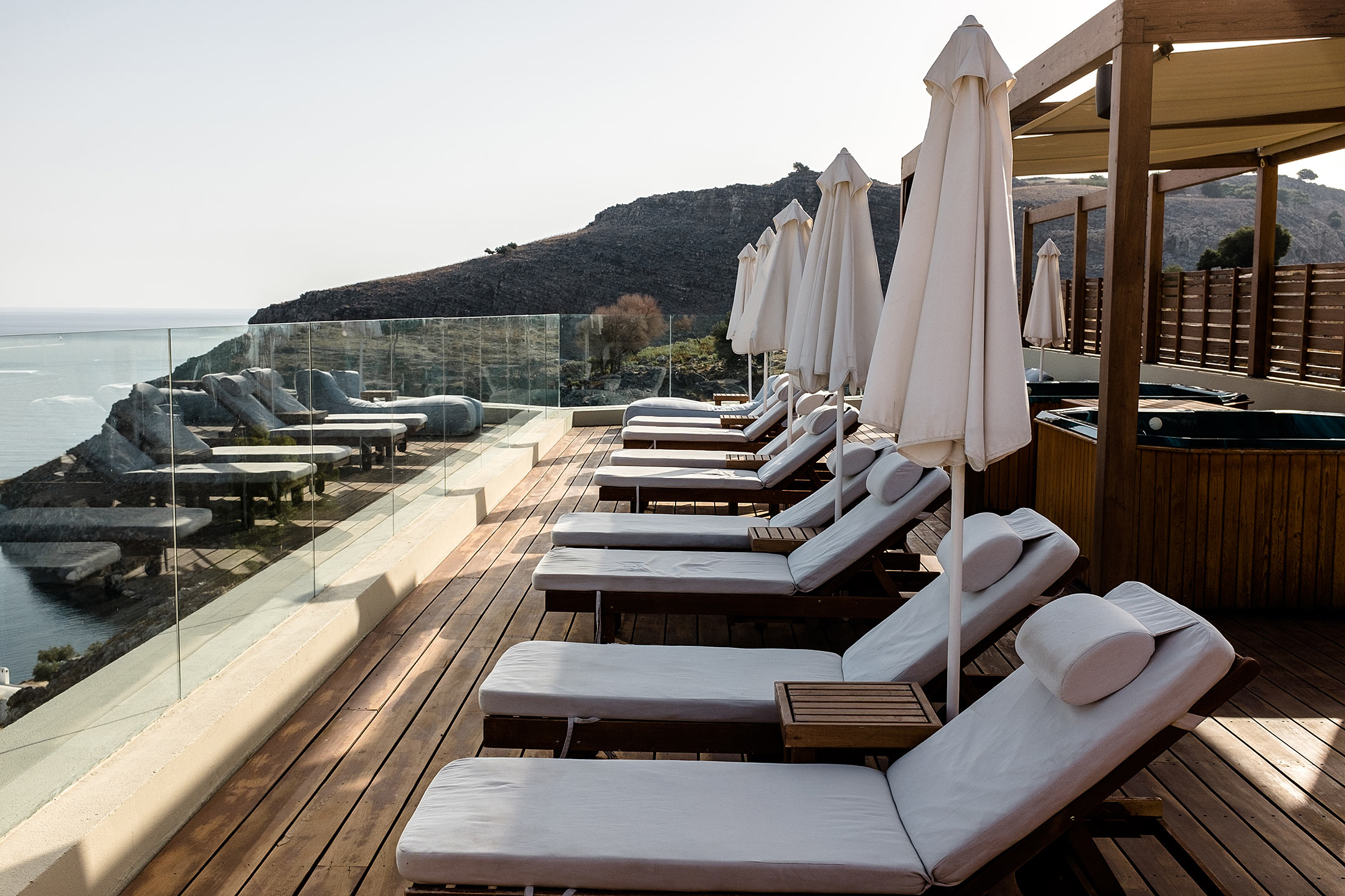 Lindos Blu Luxury Hotel Rhodos Dachterrasse Travel Blog Sunnyinga