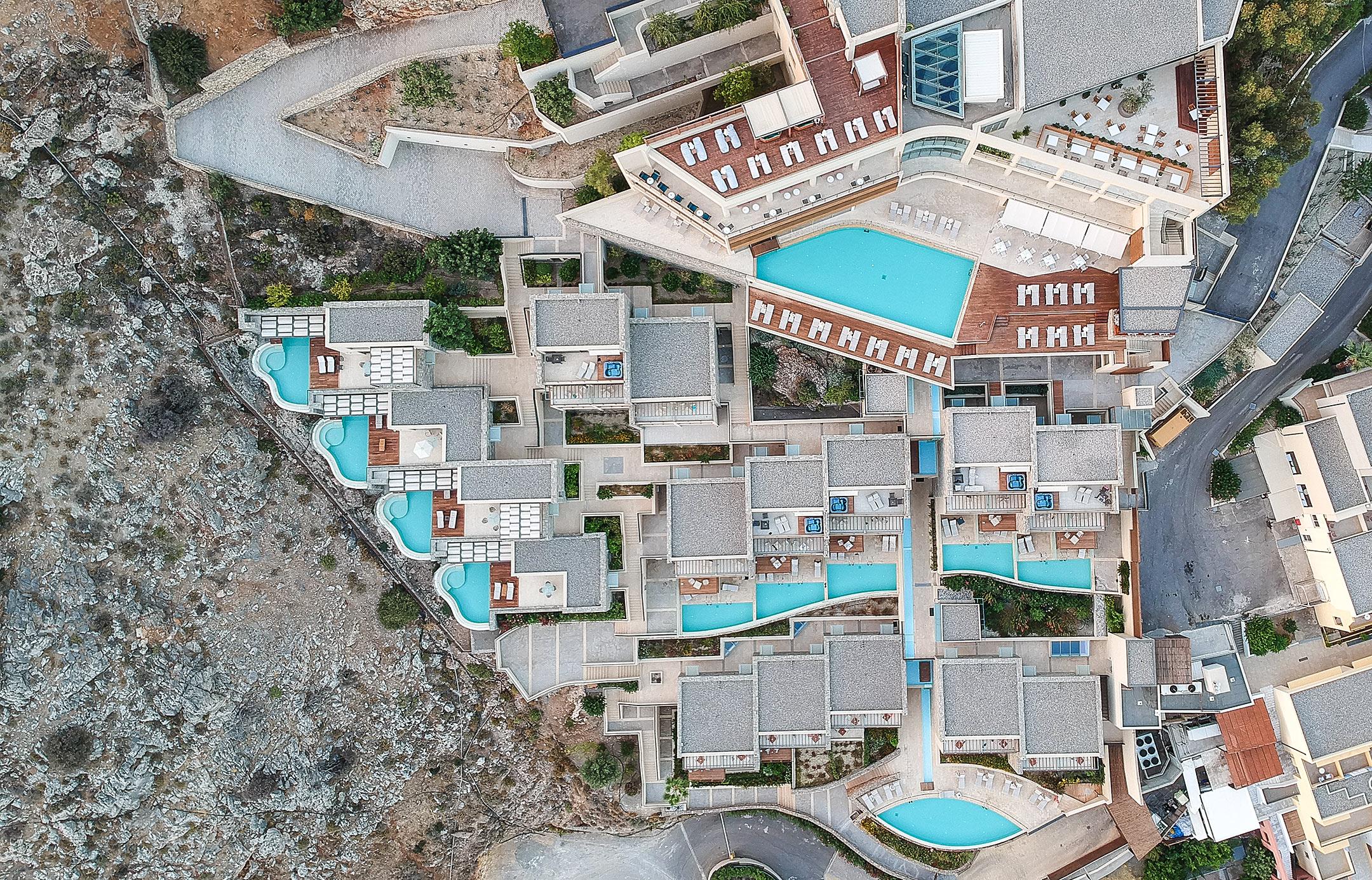 Lindos Blu Luxury Hotel Rhodos Drohne Travel Blog Sunnyinga