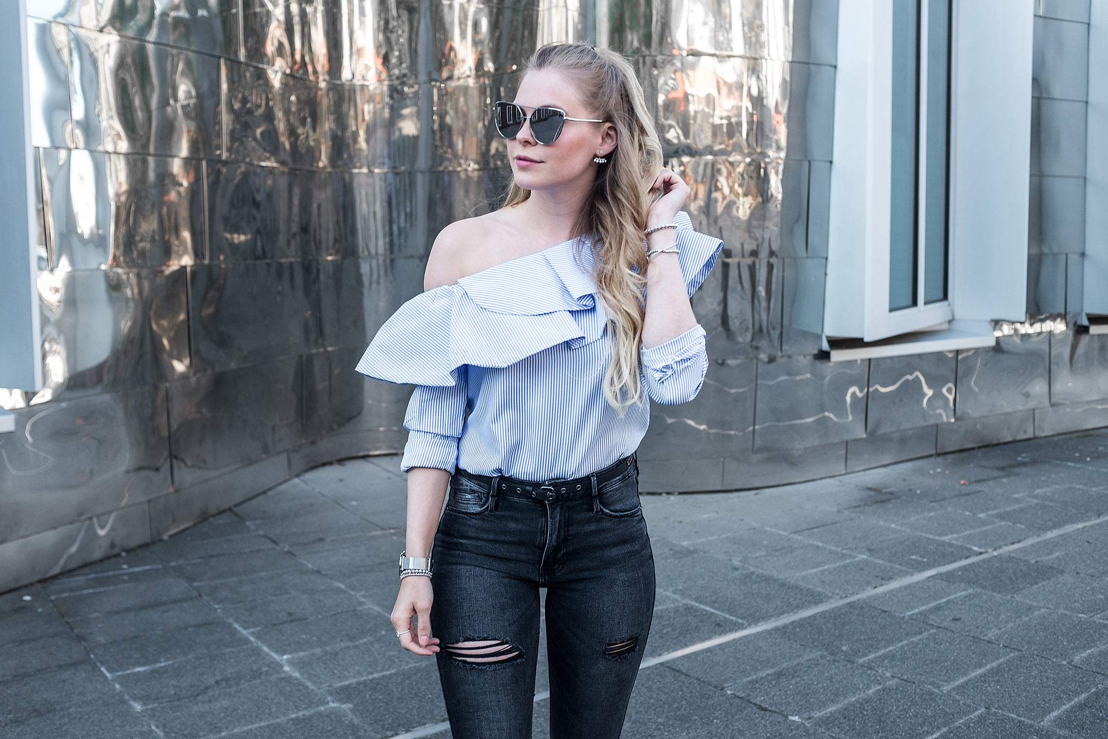 Loavies One Shoulder Bluse Sunnyinga Fashionblog Düsseldorf
