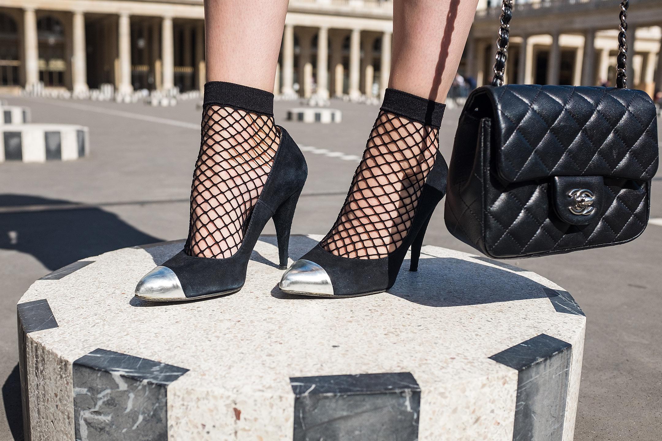 Netzsocken schwarz High Heels Sunnyinga Fashionblog