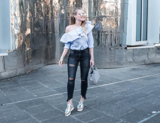 One Shoulder Bluse Sommertrend Fashionblog Düsseldorf Sunnyinga