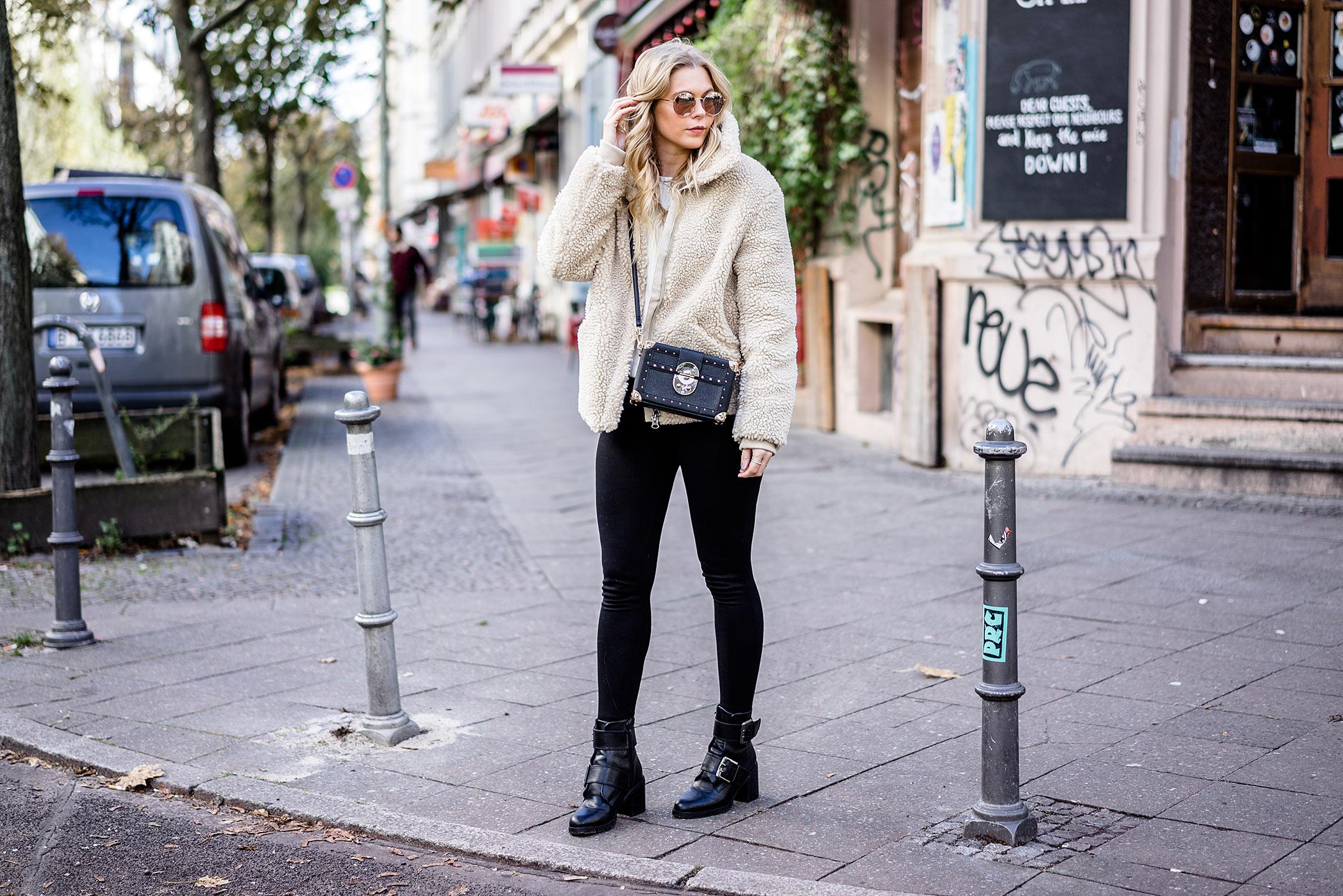 ootd Kreuzberg Streetstyle Fashion Blogger Teddy Coat Herbst Sunnyinga