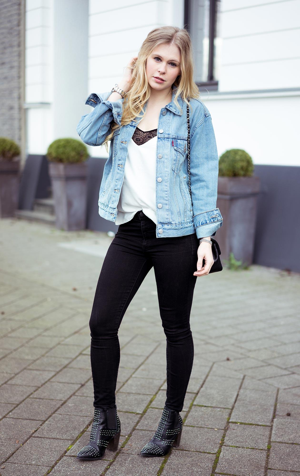 Oversize Jeansjacke Outfit Levis Blog Sunnyinga Modeblog