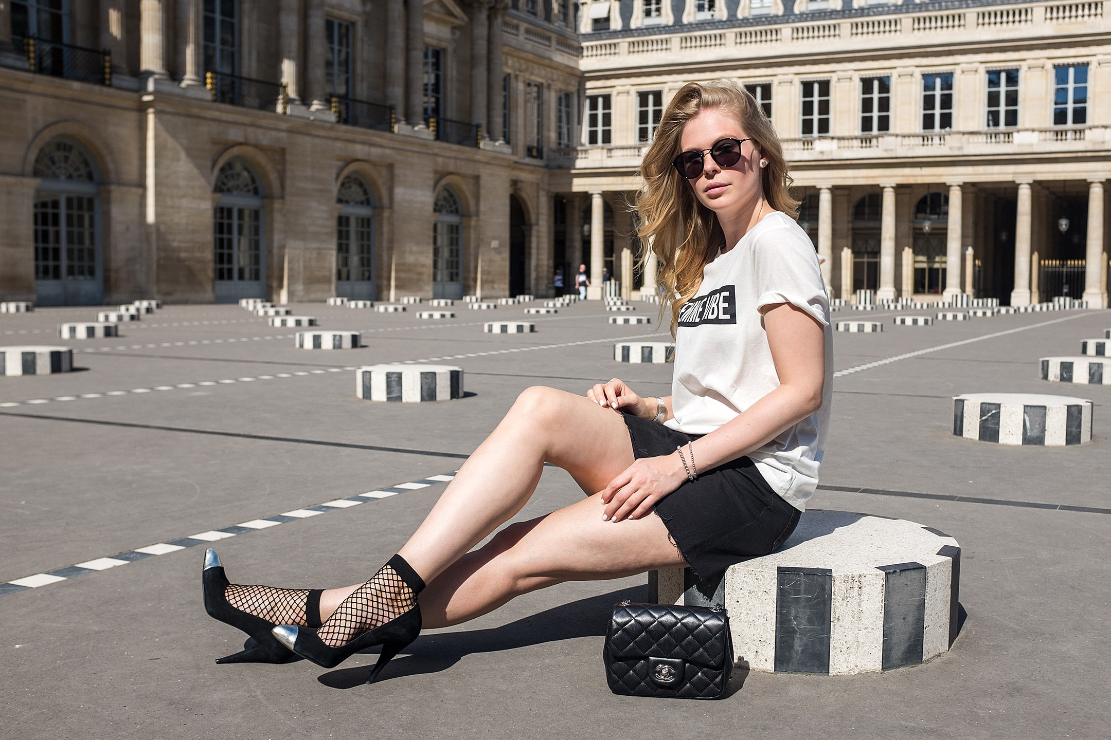 Paris Black White Outfit Sunnyinga Bloggerin