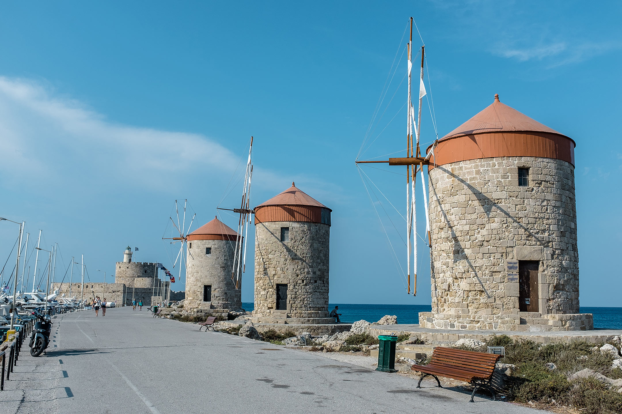 Rhodos Stadt Windmühle Griechenland Travel Blog Sunnyinga