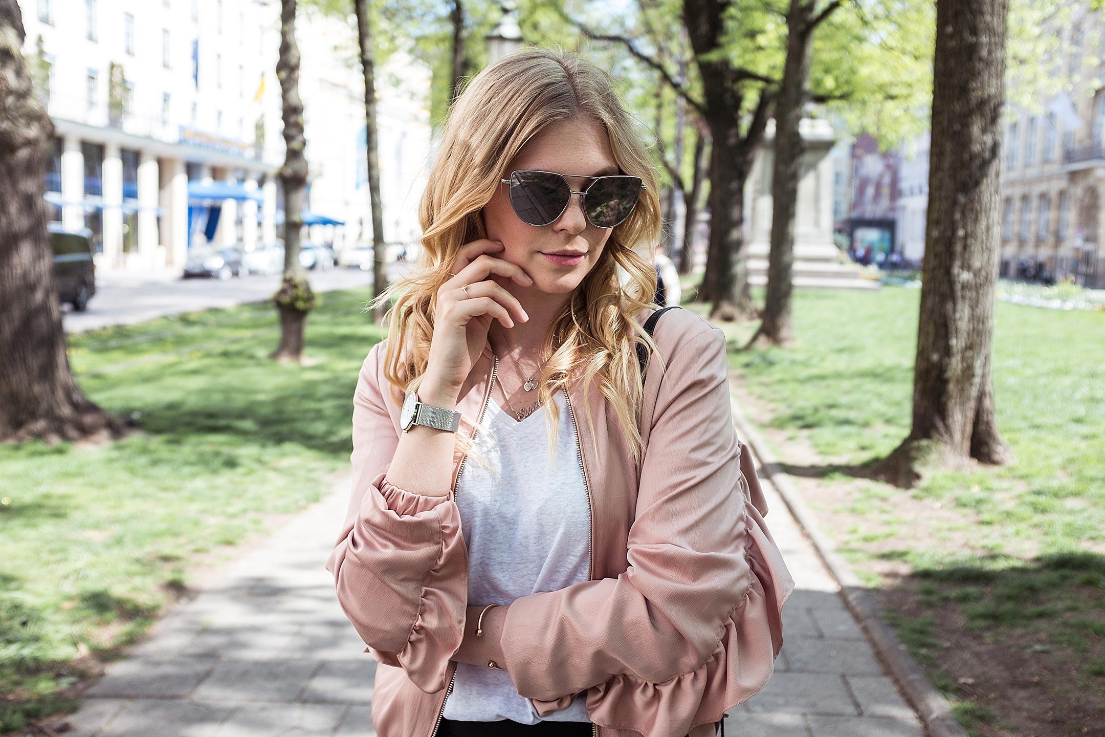Rosa Blouson Outfit Sunnyinga Fashionblog