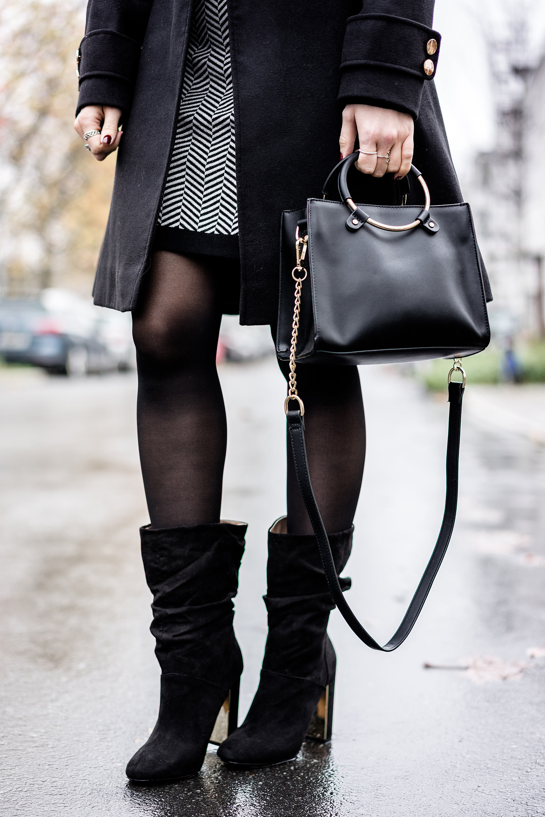 Slouch Boots schwarz Zalando Winter Outfit Fashion Blogger Sunnyinga