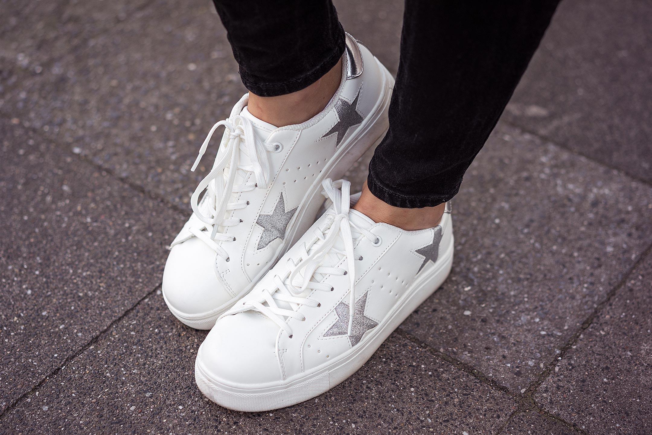 Sternchen Sneaker weiß Sunnyinga Modeblog Düsseldorf