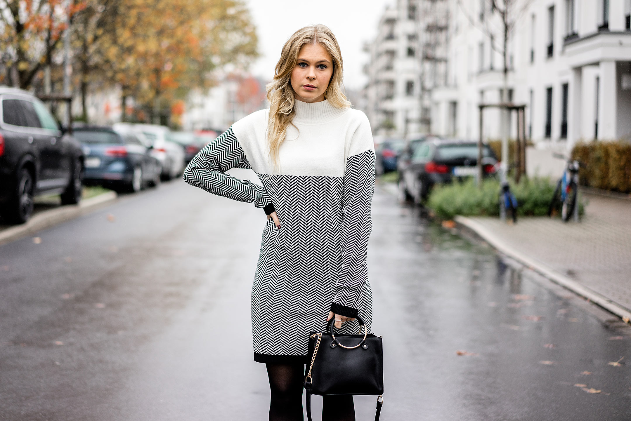Strickkleid Winter Outfit Blog Zalando Sunnyinga