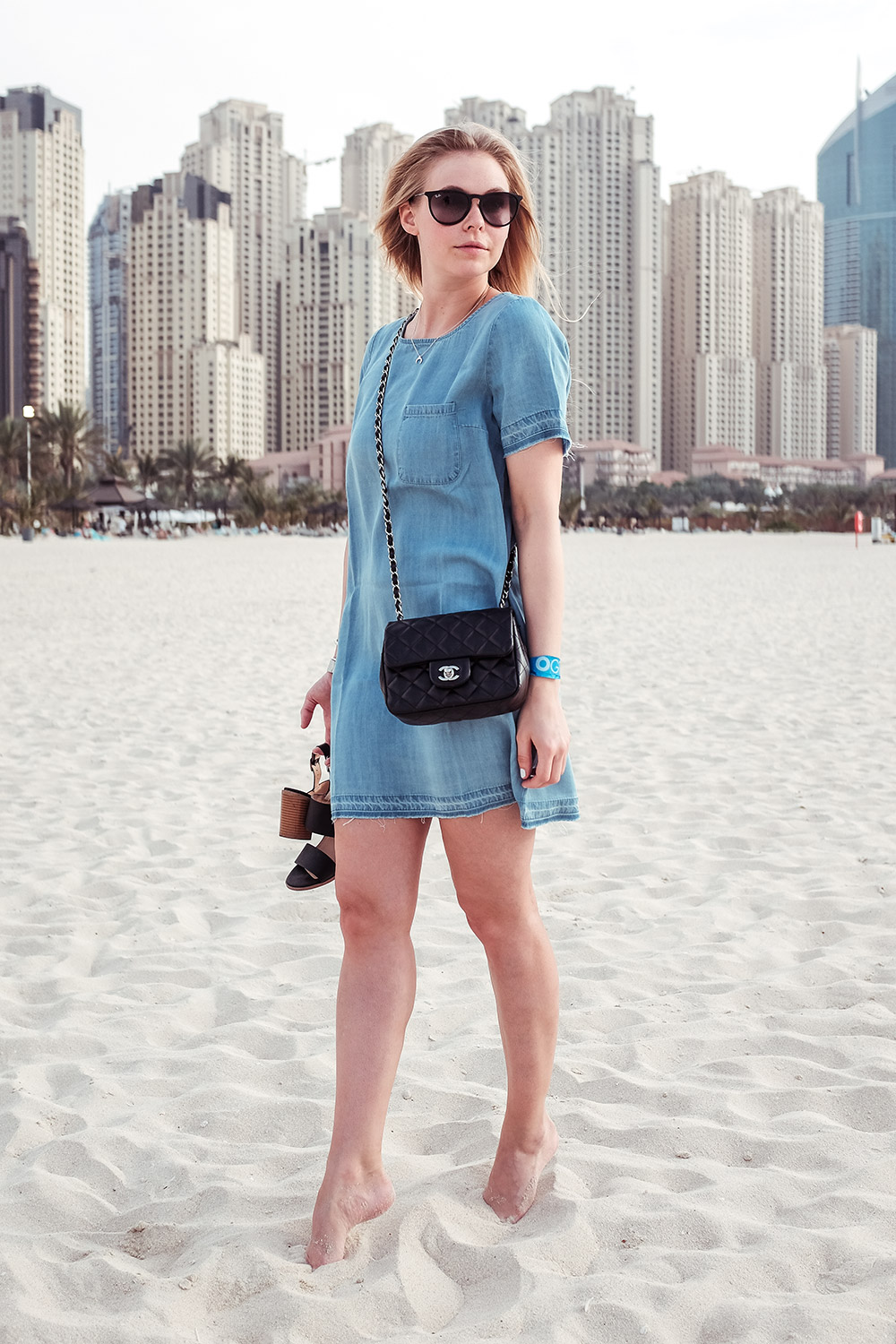 Sunnyinga Dubai Travelblog Jeanskleid Denim Outfit