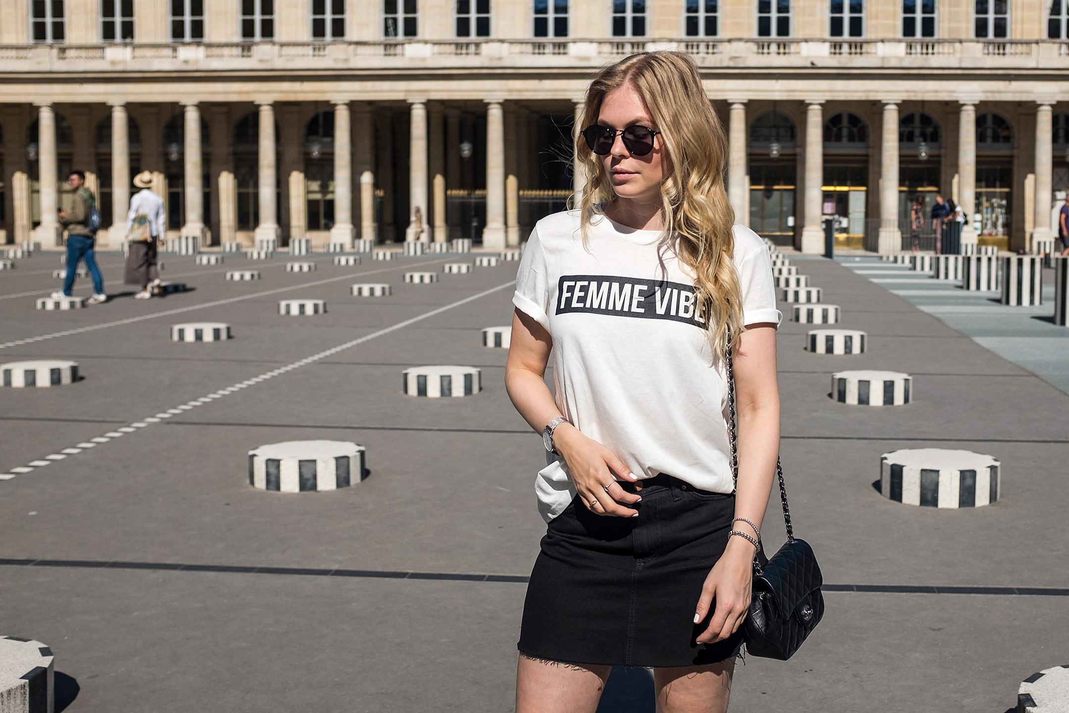 Sunnyinga Femme Vibe Shirt Jeansrock Blog Düsseldorf