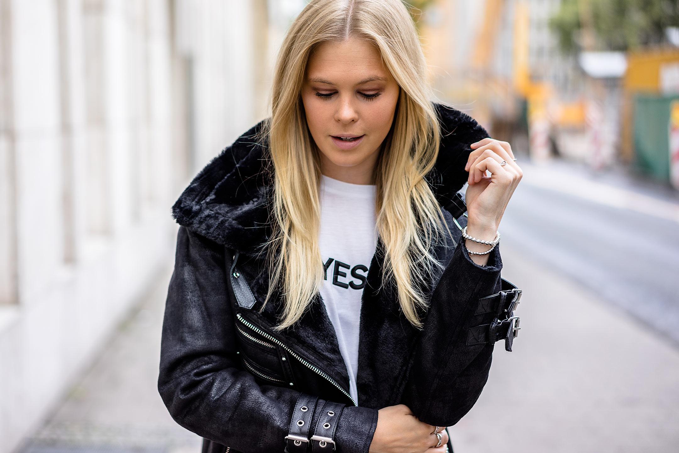 Sunnyinga Herbst Outfit Fashion Blogger Düsseldorf Streetstyle Felljacke