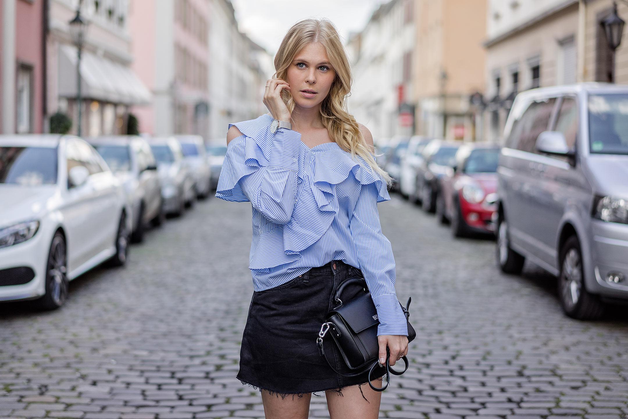 Sunnyinga Outfit Designer Lookalike Bluse Rock Modeblog Düsseldorf