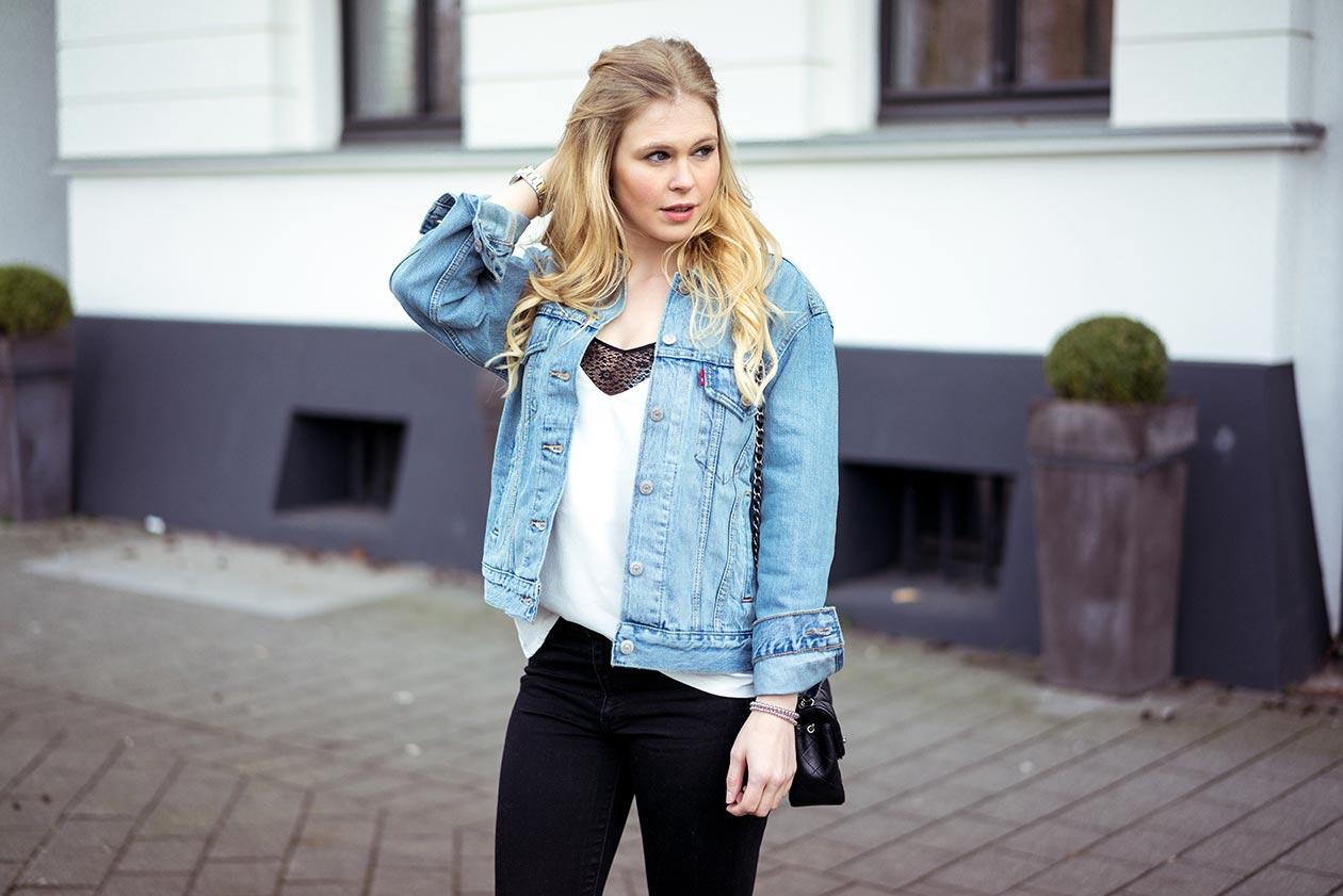 Sunnyinga Outfit Jeansjacke Fashionblog Düsseldorf