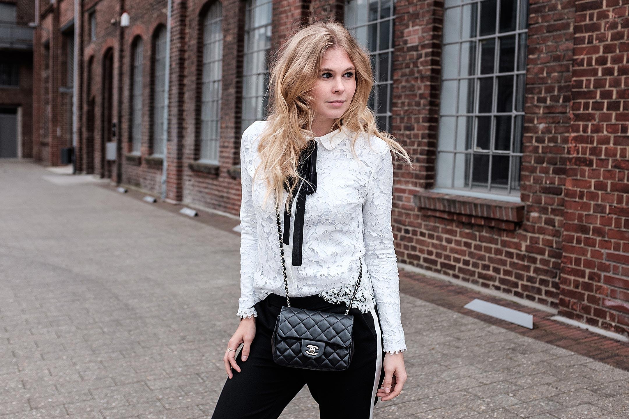 Sunnyinga schwarz weiß Outfit Fashionblog Düsseldorf