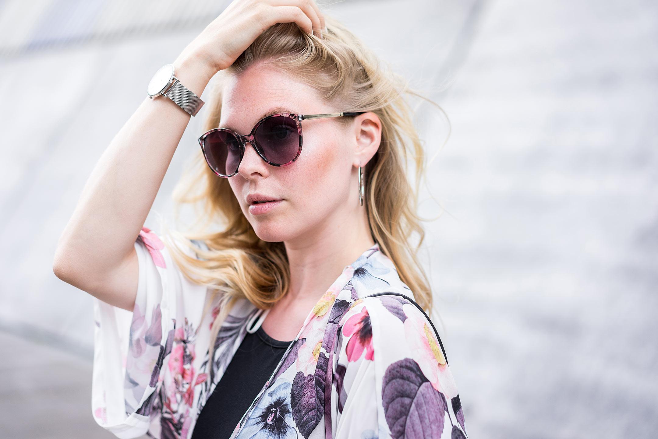 Sunnyinga Sonnenbrille Pink Kimono Look