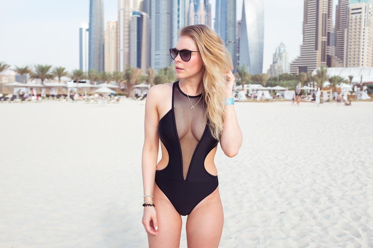 Sunnyinga Travelblog Strand Dubai Marina