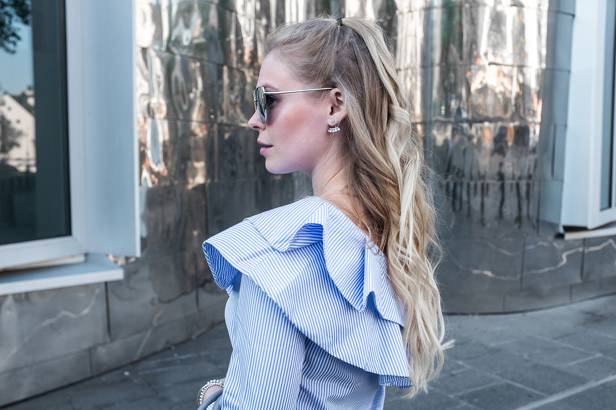 Sunnyinga Volants Bluse Modeblog Düsseldorf